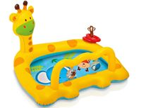 Надувной бассейн intex веселый жираф, 112х91х72см, от 1 до 3 лет