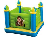 Детский надувной батут замок intex jr. jump-o-lene castle bouncer, 132х132х107 см, от 3 до 6 лет