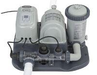 Хлоргенератор krystal clear saltwater system с фильтрующим насосом intex, 220-240 v, 4542 л/час