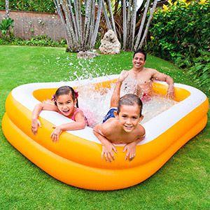 Надувной бассейн intex мандарин, 229х147х46 см, от 3 лет
