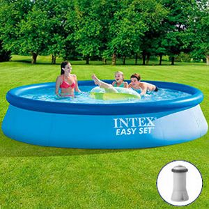 Бассейн intex easy set pool, 396 х 84 см + фильтр-насос