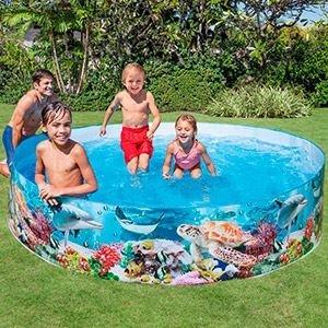 Жесткий бассейн подводный мир intex, 244х46 см, от 3 лет