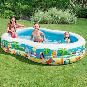 Надувной бассейн Райская Лагуна INTEX, 262х160х46 см, от 6 лет 56490