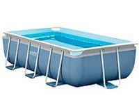 Каркасный бассейн Intex Rectangular Prism Frame Pool, 300х175х80 см + фильтр-насос + лестница 26772
