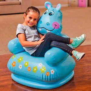 Детское надувное кресло intex happy animal chair (веселые зверушки), 65х64х75 см, 3-8 лет