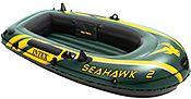 Надувная лодка intex двухместная seahawk-200, 236х114x41 см