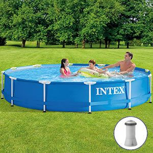 ��������� ������� intex metal frame pool, 366�76 �� + ������-�����