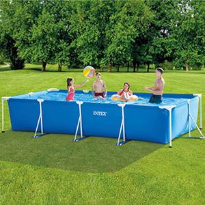 Бассейн каркасный Intex Rectangular Frame Pool, 450х220х84см