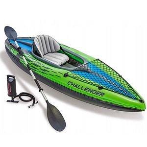 Надувная лодка-каяк intex challenger-k1 (set), 274х76х38 см