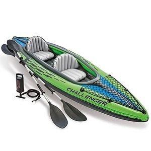 Надувная лодка-каяк intex challenger-k2 (set), 351х76х38 см