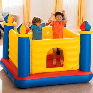 Детский надувной батут замок intex jump-o-lene castle bouncer, 175х175х135 см, от 3 до 6 лет