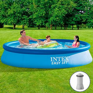 Бассейн intex easy set pool, 366 х 76 см + фильтр-насос