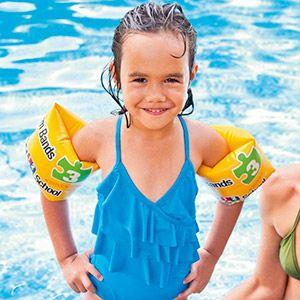 Надувные нарукавники deluxe учимся плавать - шаг 3, 20х15см, от 3 до 6 лет