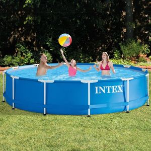 Бассейн каркасный intex metal frame pool, 366х76 см