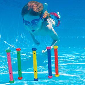 Набор палок для обучению подводному плаванию, 5 шт. в наборе, от 6 лет