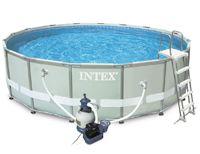 Купить Бассейн Каркасный Intex Ultra-Frame Metal Frame Pool, 549Х132См   Песочный Фильтр-Насос   Аксессуары 28332
