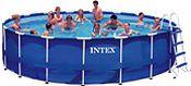 Бассейн каркасный intex metal frame pool, 549х122 см + фильтр-насос + аксессуары