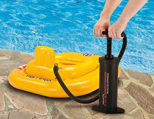 накачать насос для надувной лодки